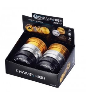 Grinder Champ in Metallo Compatto Spessore 2.6 cm 4 Parti conf. 6 pz. colori assortiti