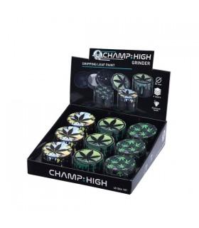 Grinder Champ in Metallo con Macinino 4 Parti Diam.40mm conf. 9 pz. assortito con 3 colori