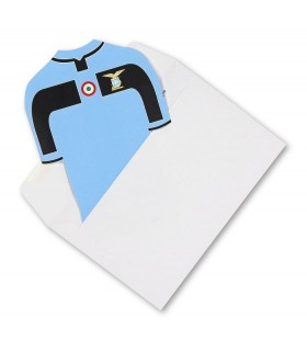 Biglietti Augurali S.S. Lazio a forma di T-Shirt Senza Testo conf. 10 pz.