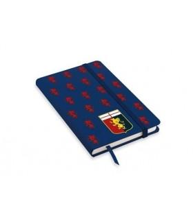 Nootebook A6 con Elastico F.C. Genova disponibile in 2 colori Bianco e Blu