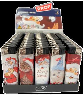 Accendino Elettronico Prof Santa&Hello Kitty conf. 50 pz. assortito con 5 fantasie