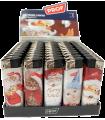 Accendino Elettronico Prof Santa&Kitty conf. 50 pz. assortito con 5 fantasie