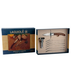 Set per Ostriche Laguiole con coltello ed accessori