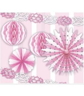 Set 6 Decorazioni Rosa assortite