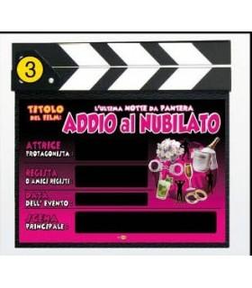 """Ciak """"Addio al Nubilato"""" Misura cm. 27x30"""