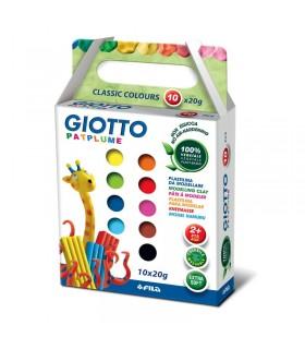 Giotto Patplume conf. 10 pezzi da 20 gr colori assortiti