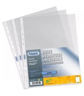 Buste Favorit foratura universale Liscia  formato 30x42 conf. 25 pz.