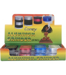 Expo Grinder 2 Parti in alluminio assortito in 4 colori