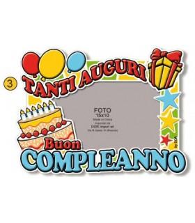 Portafoto  in PVC Buon Compleanno mis. 15x10